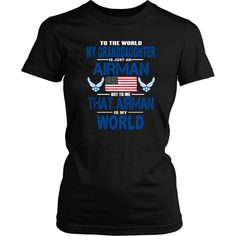 AIRFORCE - Granddaughter Is my World - Front Design
