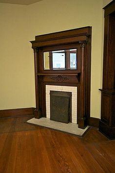 OMG original fireplace built in 1920. Love, love