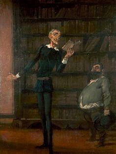 Antonio de la Gandara's La Déclamation de Don Quichotte à Sancho Pancha . 1912