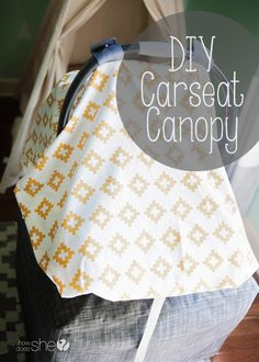 How to make a DIY Carseat Canopy Keep the cold and germs away from your baby!