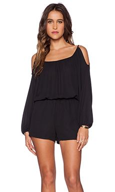 Shop for Eight Sixty Cold Shoulder Romper in Black at revolve.
