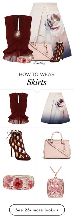 """Coast Gilmore skirt"" by lindsayd78 on Polyvore featuring mode, Michael Kors, Isabel Marant, Alexandre Birman, Chanel et Miadora"