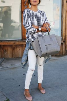 Would love some comfortably-fitting, stylish white jeans. I live this look