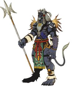 View an image titled 'Kimahri Ronso Art' in our Final Fantasy X art gallery featuring official character designs, concept art, and promo pictures. Final Fantasy X, Artwork Final Fantasy, Final Fantasy Collection, Final Fantasy Characters, Video Game Characters, Fantasy Series, Fantasy World, Manga Anime, Character Art