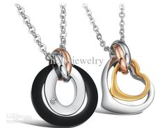 726813f83d56d Hot sale couple lover titanium stainless steel Pendant necklace valentines  gift jewelry