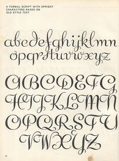Lettering ideas for invitations Script lettering (1957) p8