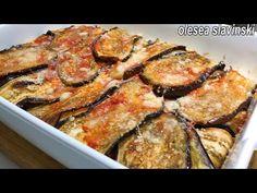 YouTube Eggplant Dip Recipes, Eggplant Dishes, Baked Eggplant, Greek Recipes, Light Recipes, Italian Recipes, Fruit Recipes, Easy Healthy Pasta Recipes, Easy Dinner Recipes