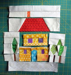 House with trees pattern - A new paper piecing obsession… by Cath at Wombat Quilts