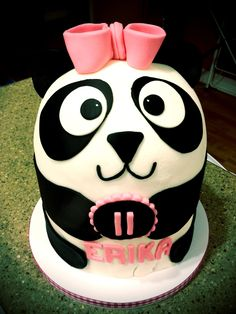 Cute Panda Birthday Cake Panda cake