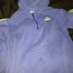Adidas green and blue hoodie Fair condition, size large, some minor stains just from a lot of wear.. Fur/material on inside is matted down and a little rough Adidas Other