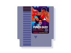 Punch Out!! (Nes Cartridge) by Helbetico #Design Popular #Dribbble #shots