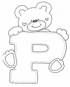 desenho alfabeto ursinhos decoracao sala de aula (15)