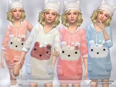 The sims 4 cute winter sweaters for girls (mesh) by pinkzombiecupcakes avai The Sims 4 Kids, The Sims 4 Bebes, Sims 4 Children, Sims 4 Toddler, Sims 4 Mods, Sims 3, Kids Outfits Girls, Girl Outfits, Cute Winter Sweaters