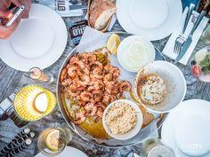 Shrimps im Restaurant Silo 5 in Bottighofen am Bodensee