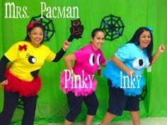 DIY Pacman costumes Pac Man Halloween Costume, Halloween Class Party, Halloween Games, Family Halloween, Halloween Diy, Turtle Costumes, Hallowen Ideas, Running Costumes, Diy Costumes
