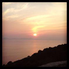 Sunset at Sivota Greece!!