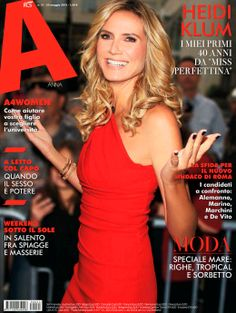 Who made Heidi Klum's red one shoulder dress that she wore on the cover of A Anna magazine? Elle Marie, Cover Model, Stretch Satin, Event Dresses, Heidi Klum, Crepe Dress, One Shoulder, Shoulder Dress, Vanity Fair