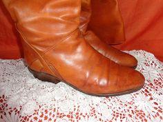 Vintage Stiefel - Stiefel*vintage*braun*Leder*40,5* - ein Designerstück von SweetSweetVintage bei DaWanda