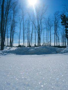 Diamonds in the snow, Wisconsin by Honey Bee