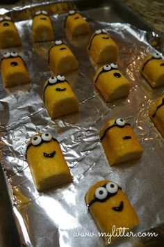 twinkie cupcake minions