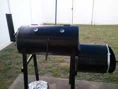 Grill made from a hot water heater and scrap I had around garage.