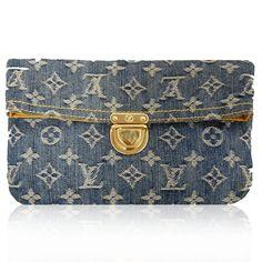 Louis Vuitton Monogram Denim Clutch  http://www.consignofthetimes.com/product_details.asp?galleryid=6524
