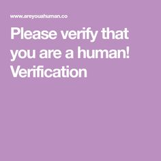 Please verify that you are a human! Verification
