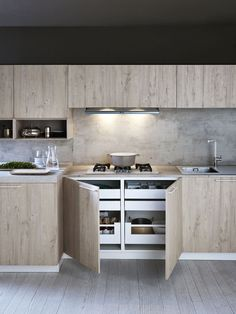 LINEAR FITTED KITCHEN ARIEL 06 BY CESAR ARREDAMENTI | DESIGN GIAN VITTORIO PLAZZOGNA