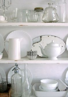 I love the dishes, too much white though, needs a color backdrop :)