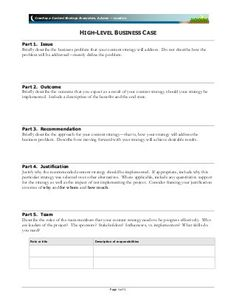 business case template for lavacon creating a content strategy ecosy