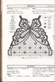 Schema dal web: un centro tavola a filet molto originale