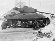 of the Tank Battalion. X preceding the tanks serial number indicates it was drawn from British stocks and issued to replace American losses during Battle of the Bulge. Ww2 Pictures, Ww2 Photos, Army Vehicles, Armored Vehicles, M10 Tank Destroyer, Panther, Sherman Tank, Ww2 Tanks, Military Diorama