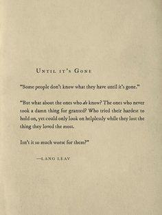 Until It's Gone - Lang Leav