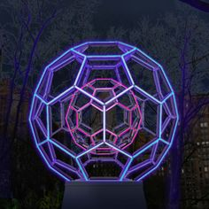 """Sculptor Leo Villareal's Buckminster Fuller-inspired """"Buckyball"""""""