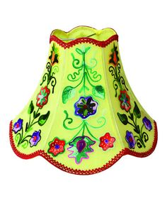 Take a look at this Yellow Floral Lamp Shade by Karma Living on today!