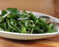 Green Beans with Tomatillo Salsa Dressing