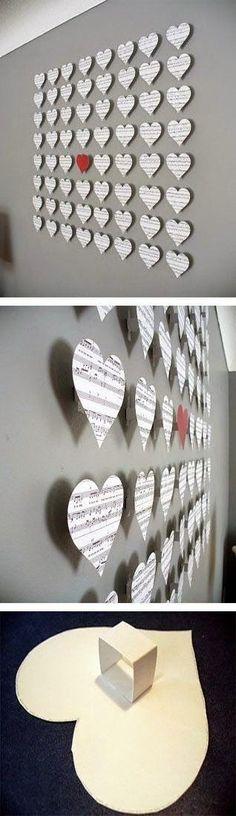 Uma ideia de DIY encantadora para a sua parede!