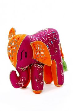 TOY ELEPHANT EMBROIDERED