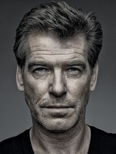 Brand new day. Famous Men, Famous Faces, Pierce Brosnan, Classic Movie Stars, Looks Black, Celebrity Portraits, Interesting Faces, Male Face, Best Actor