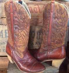 Vintage 80's Distressed Dingo Cowgirl Cowboy Boots by MADVintology, $30.00