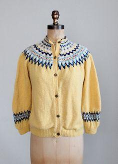 Vintage Hand Knit Fair Isle Cardigan