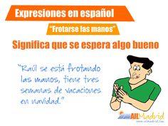 """¿Ya conoces la #expresión """"frotarse las manos""""? #Spanish #Spain"""