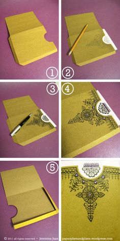 DIY Eid Card - mehndi-inspired illustrated card « paper, plate, and plane