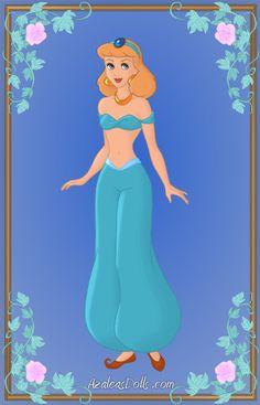 Cinderella as Jasmine by Heroine-FA-C-n-Xover.deviantart.com on @deviantART