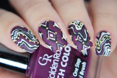 Abstract-geometric ~ Glitterfingersss in english