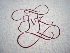 Jan van Krimpen monogram by Bas van Vuurde, via Flickr