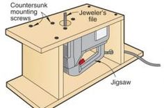 Jig Saw Table | Woodsmith Tips | jigs | Pinterest ...