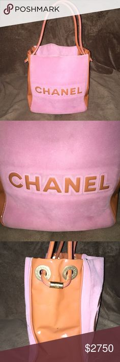 🎀CHANEL SUEDE BAG🎀RARE🎀 This is an authentic Vintage Chanel bag! This in great condition the suede needs a little cleaning but other than a couple of marks on the patent leather it's beautiful! I Would maybe trade for the right bag. Thanks for looking CHANEL Bags