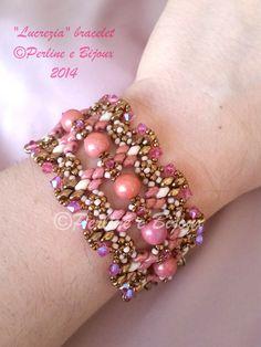 Tutorial LUCREZIA bracelet / bracciale por PerlineeBijoux en Etsy