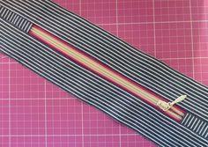 Tuto en français zip fermeture passepoilée. De belles finitions pour un sac ou une trousse et facile à faire.
